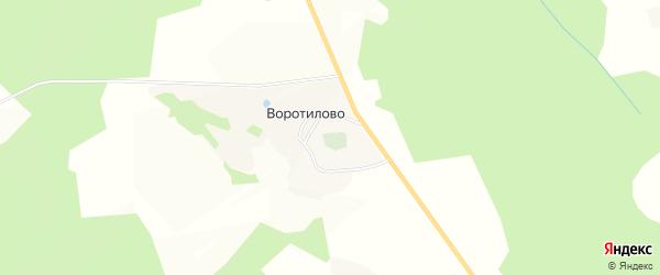Карта деревни Воротилово сельского поселения Некрасово в Тверской области с улицами и номерами домов