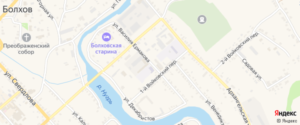 Улица Василия Ермакова на карте Болхова с номерами домов