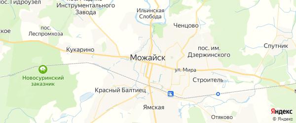 Карта Можайска с районами, улицами и номерами домов