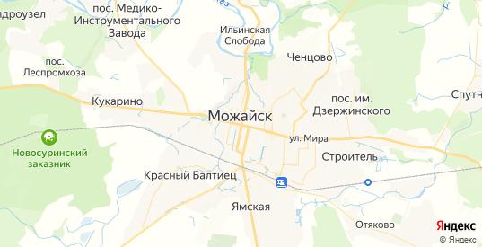 Карта Можайска с улицами и домами подробная. Показать со спутника номера домов онлайн