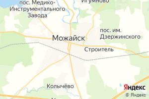 Карта г. Можайск Московская область