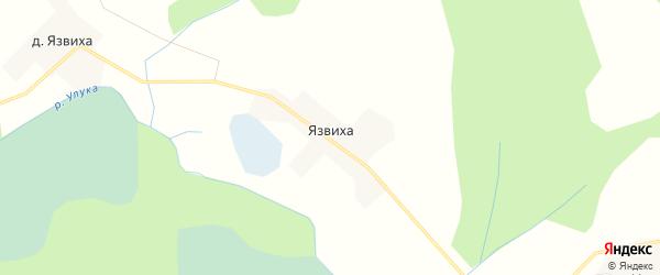 Карта хутора Язвихи в Тверской области с улицами и номерами домов