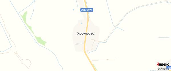 Карта деревни Хромцово сельского поселения Некрасово в Тверской области с улицами и номерами домов
