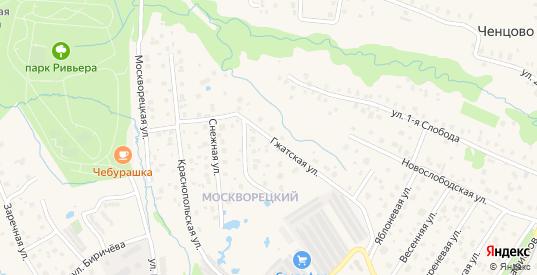 Гжатская улица в Можайске с номерами домов на карте. Спутник и схема онлайн