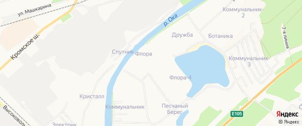 Территория СНТ Пивзавод на карте Орла с номерами домов