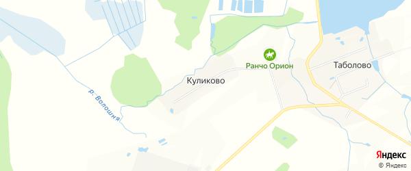 Карта деревни Куликово в Московской области с улицами и номерами домов