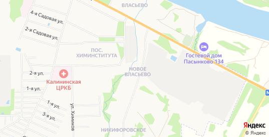 Карта поселка Власьево Новое в Твери с улицами, домами и почтовыми отделениями со спутника онлайн