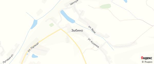 Карта села Зыбино в Белгородской области с улицами и номерами домов