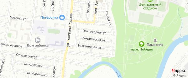 Техническая улица на карте Орла с номерами домов