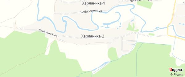 Карта деревни Харланихи-2 города Волоколамска в Московской области с улицами и номерами домов