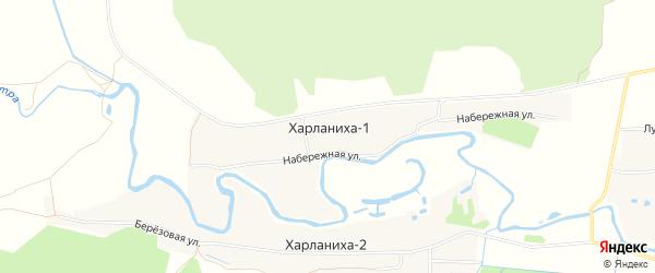 Карта деревни Харланихи-1 в Московской области с улицами и номерами домов