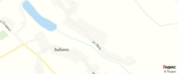 Улица Ярок на карте села Зыбино с номерами домов
