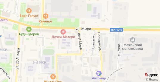Проезд Мира в Можайске с номерами домов на карте. Спутник и схема онлайн