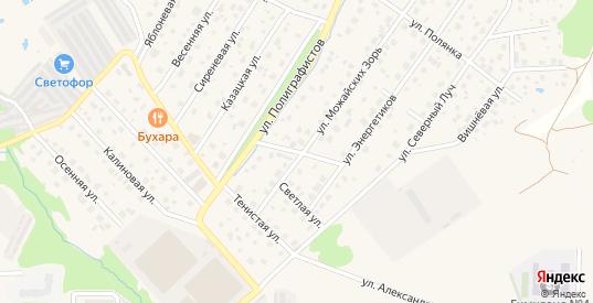 Солнечная улица в Можайске с номерами домов на карте. Спутник и схема онлайн