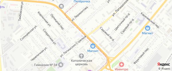 Улица Латышских Стрелков на карте Орла с номерами домов