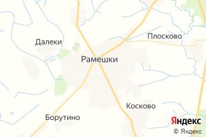 Карта пос. Рамешки Тверская область