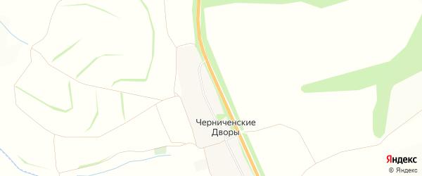 Карта хутора Черниченские Дворы в Курской области с улицами и номерами домов