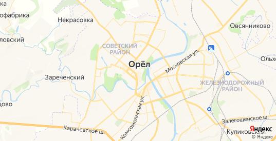 Карта Орла с улицами и домами подробная. Показать со спутника номера домов онлайн