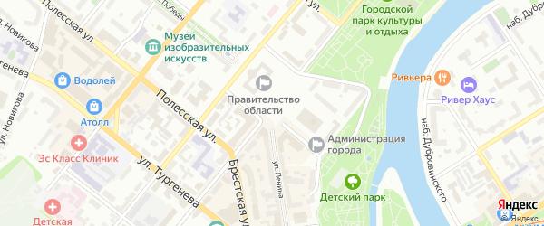 Улица 7-й ряд на карте территории Чайки с номерами домов