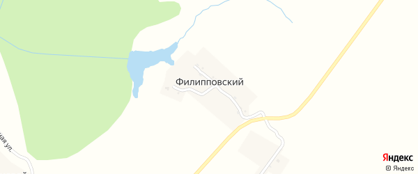 Раздольная улица на карте Филипповского поселка Орловской области с номерами домов