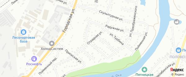 Отрадная улица на карте Орла с номерами домов