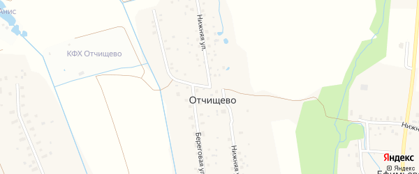 Нижняя улица на карте деревни Отчищево с номерами домов