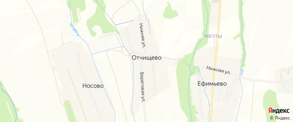 Карта деревни Отчищево города Волоколамска в Московской области с улицами и номерами домов