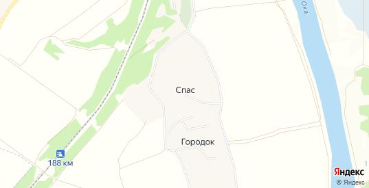 Карта села Спас в Калуге с улицами, домами и почтовыми отделениями со спутника онлайн