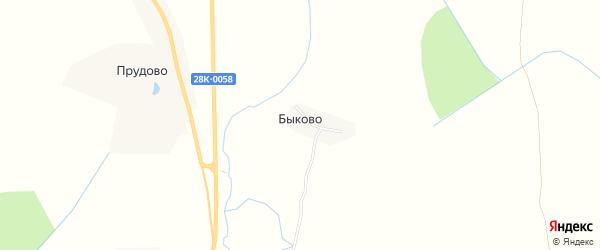 Карта деревни Быково сельского поселения Некрасово в Тверской области с улицами и номерами домов