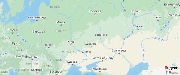 Карта Курской области с городами и районами