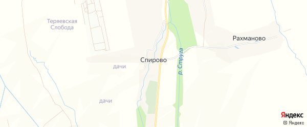 Карта села Спирово в Московской области с улицами и номерами домов