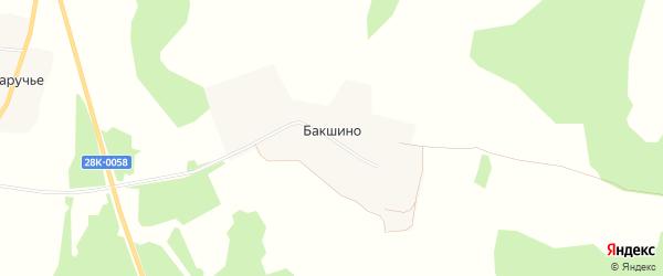 Карта деревни Бакшино сельского поселения Некрасово в Тверской области с улицами и номерами домов