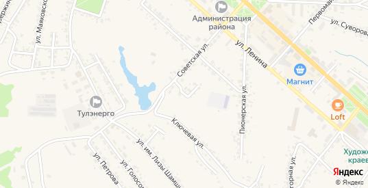 Советский переулок в Белеве с номерами домов на карте. Спутник и схема онлайн