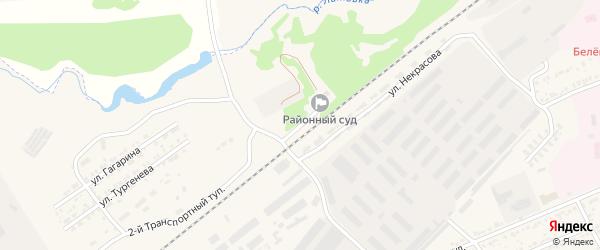 Пригородный тупик на карте Белева с номерами домов