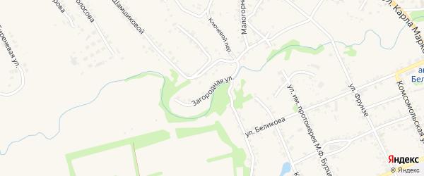 Загородная улица на карте Белева с номерами домов