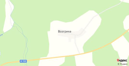 Карта деревни Возгриха в Вологодской области с улицами, домами и почтовыми отделениями со спутника онлайн