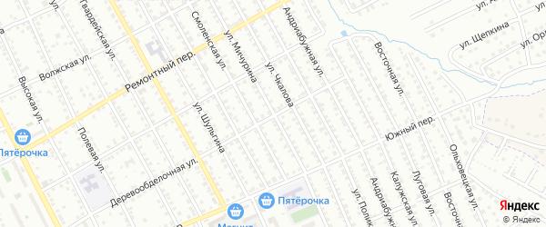 Улица Мичурина на карте Орла с номерами домов
