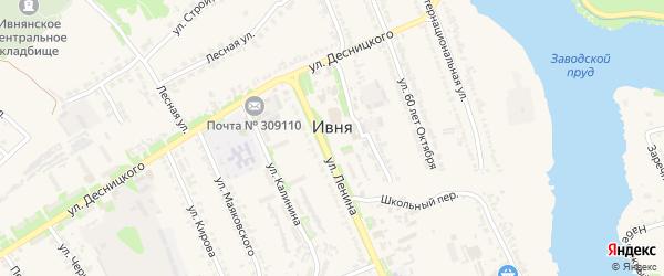 Степная улица на карте поселка Ивни с номерами домов