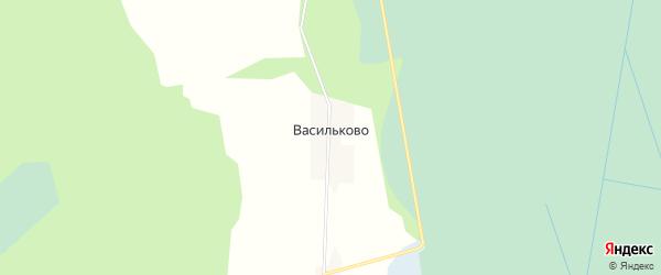 Карта деревни Васильково (Пожарский с/с) в Вологодской области с улицами и номерами домов