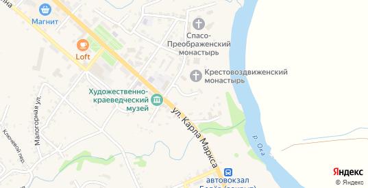 Преображенская улица в Белеве с номерами домов на карте. Спутник и схема онлайн