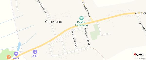Молодежная улица на карте села Серетино Белгородской области с номерами домов