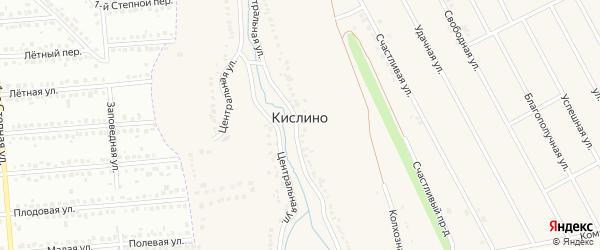 Безымянная улица на карте хутора Кислино Курской области с номерами домов
