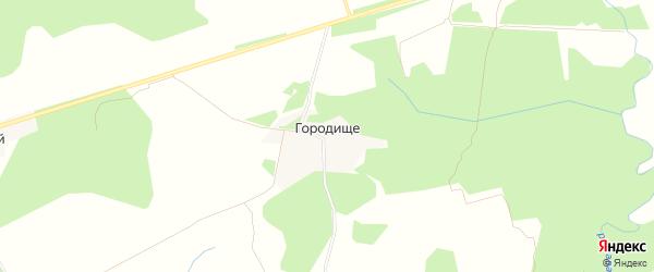 Карта деревни Городища в Тверской области с улицами и номерами домов