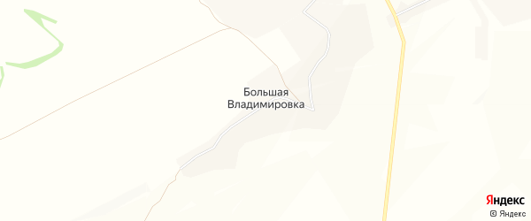 Карта деревни Большей Владимировки в Курской области с улицами и номерами домов