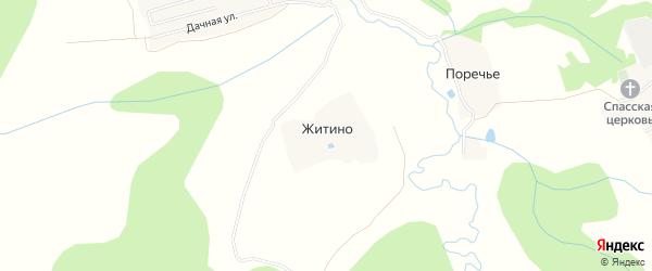 Карта деревни Житино в Московской области с улицами и номерами домов