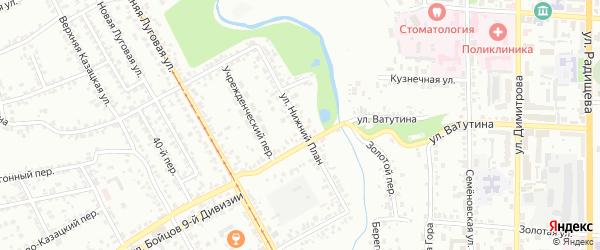 Улица Нижний План на карте Курска с номерами домов