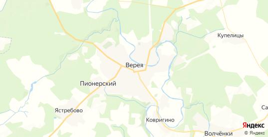 Карта Вереи с улицами и домами подробная. Показать со спутника номера домов онлайн