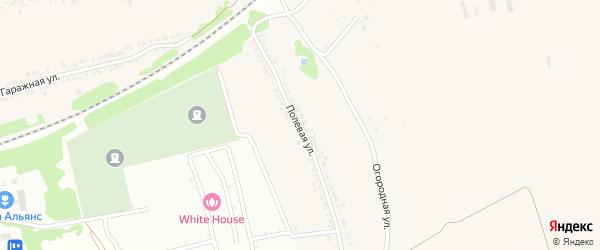 Полевая улица на карте села Рышково Курской области с номерами домов