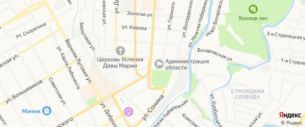 СНТ Волна на карте Курска с номерами домов