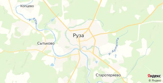 Карта Рузы с улицами и домами подробная. Показать со спутника номера домов онлайн